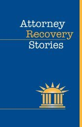 View Attorney Recovery Stories - New York Lawyer Assistance Trust