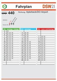 Busverbindung nach Dortmund Airport