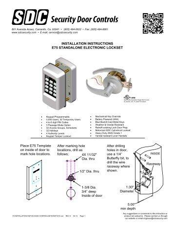Installation - SDC Security Door Controls