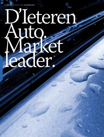 ANNUAL REPORT 2008 | D'IETEREN AUTO