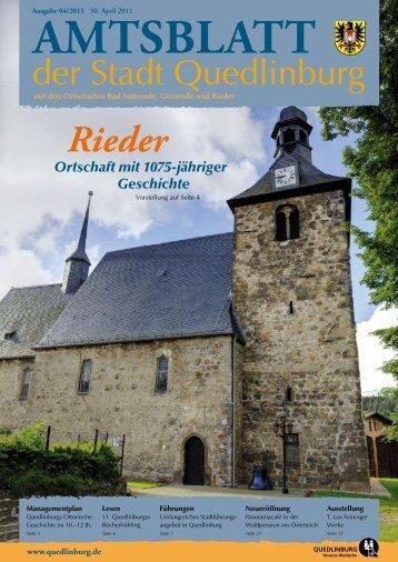 Rieder - Quedlinburg