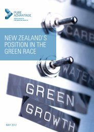 New ZealaNd's PositioN iN the GreeN race - Pure Advantage