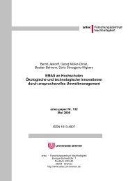 EMAS an Hochschulen Ökologische und technologische ...