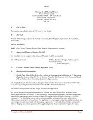 DRAFT Planning Board Meeting Minutes Town of Cumberland ...