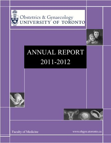 ANNUAL REPORT 2011-2012 - University of Toronto Department of ...