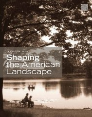 Shaping the American Landscape - The Cultural Landscape ...