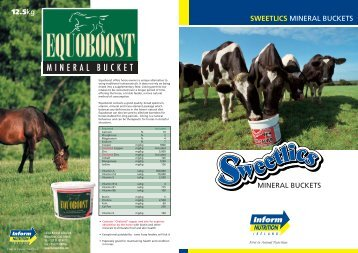 sweetlics bucket leaflet:Layout 1 - Inform Nutrition