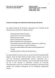 Klinische Grundlagen der antibiotischen ... - Dr. med. W. Berghoff