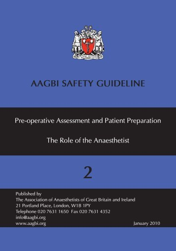 Download a copy of the guideline (pdf) - aagbi