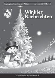 KÖNNTE IHR INSERAT STEHEN! 1 SEITE ... - Quartierverein Winkeln