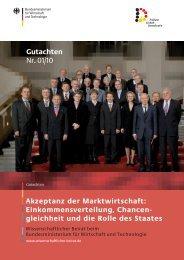 Akzeptanz der Marktwirtschaft: Einkommensverteilung ... - BMWi
