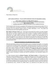 Revised draft press release - Alfi