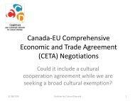Canada-EU Comprehensive Economic and Trade Agreement (CETA)