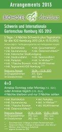 Arrangements 2013 - Biohotel Amadeus Schwerin