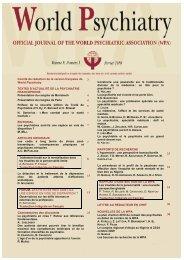 Comité de rédaction de la version française de World Psychiatry ...