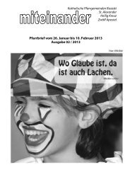 Pfarrbrief Nr. 2013-02 - Kath-Rastatt