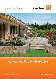 Garten- und Natursteinarbeiten - Quick-Mix