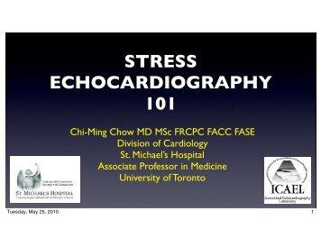 Stress echocardiography 101 - AAIM