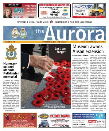 Nov 19 2012 - The Aurora Newspaper
