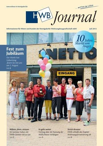 HWB-Journal | Juli 2013 - h e n n i g s d o r f . d e