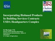 Incorporating Biobased Products In Building Services Contracts ...
