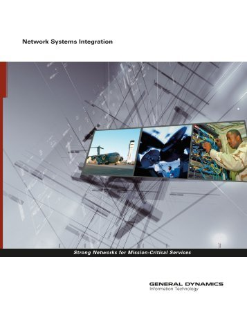Network Systems Integration - General Dynamics Information ...