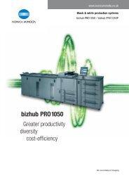 bizhub PRO 1050 Brochure - R3 Business Solutions