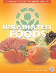 irradiated foods - American Council on Science and Health