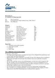 R E F E R A T Dagsorden: 1. Afsluttede og nuværende projekter 2 ...