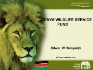 KENYA WILDLIFE SERVICE FUND - Redlac
