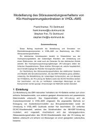Modellierung des Störaussendungsverhaltens von ... - TU Dortmund