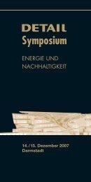 Unterlage: Flyer DETAIL Energie Symposium - Entwerfen und ...