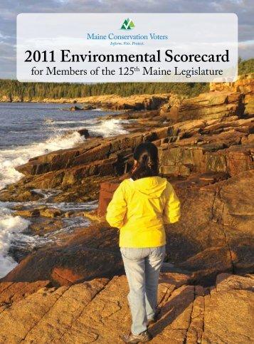 2011 Environmental Scorecard - Maine Chapter