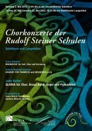 Chorkonzerte der Rudolf Steiner Schulen - guidle