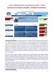 Concorso nazionale - Marketing sociale e Comunicazione per la ...