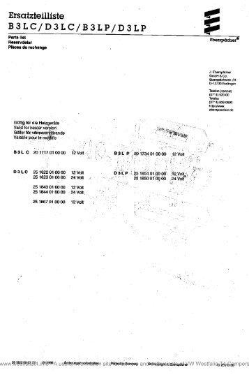 Eberspacher B2l manual