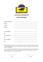 Clique AQUI para baixar a Ficha de Inscrição e ... - Portal Do Equino