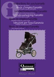 Instructions for use/warranty Mode d'emploi/Garantie - Quinny
