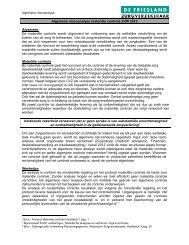 Algemene risico-analyse - De Friesland Zorgverzekeraar
