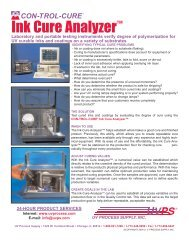 Ink Cure Analyzer™ - UV Process Supply