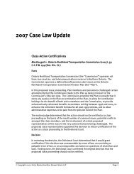 Case Law Update - Hicks Morley