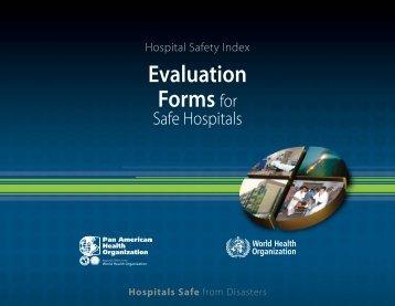 Evaluation Forms for Safe Hospitals - PAHO/WHO