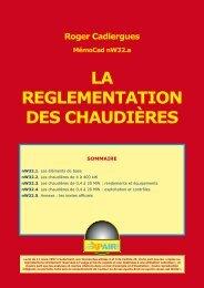 LA REGLEMENTATION DES CHAUDIÈRES