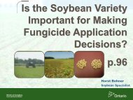 Soybean Variety - Ontario Soil and Crop Improvement Association