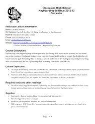 Keyboarding Syllabus 2012-13 PDF