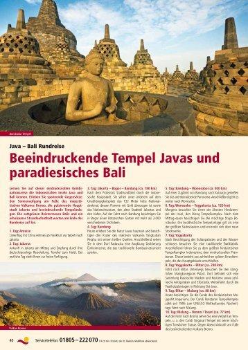Beeindruckende Tempel Javas und paradiesisches Bali - Rundreisen