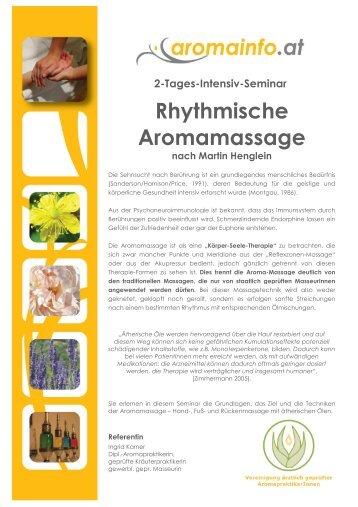 Rhythmische Aromamassage - Feeling