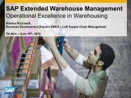 SAP Extended Warehouse Management - ERP.ORG.IL