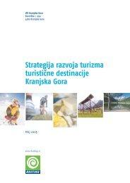7. strategija razvoja turizma turistične destinacije kranjska gora