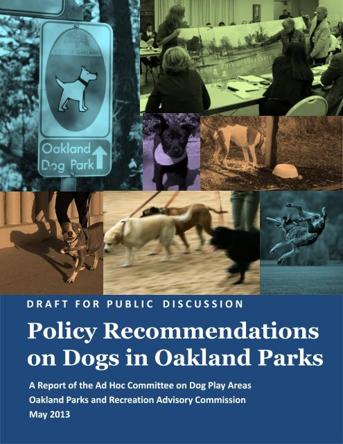 Policy Recommendations for Dogs in Oakland Parks - City of Oakland